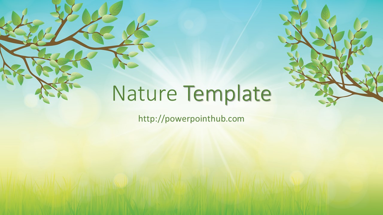 free powerpoint template nature powerpoint hub free powerpoint template nature toneelgroepblik Choice Image