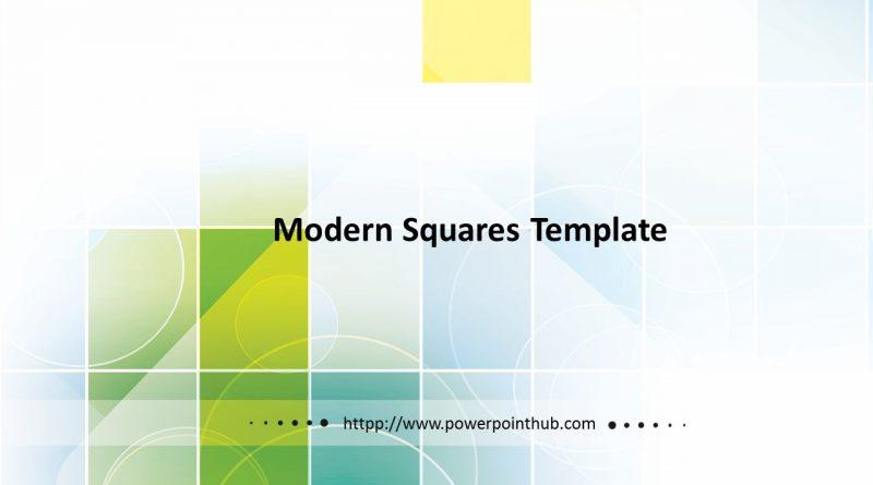 ฟรีเทมเพลต | Free Powerpoint Template – Modern Squares Template