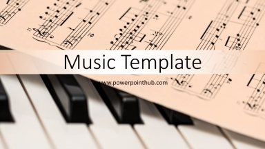 Free Powerpoint Template - Music Note
