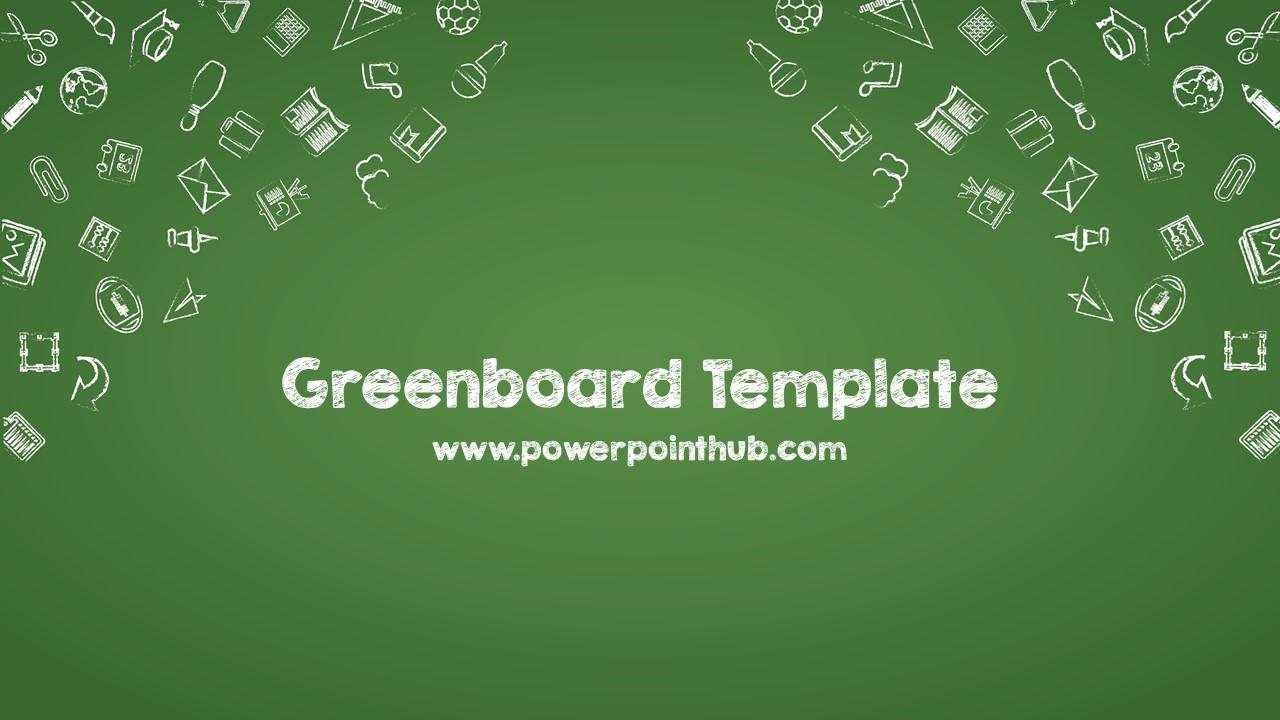 ฟร เทมเพลต กระดานดำ free powerpoint template green board