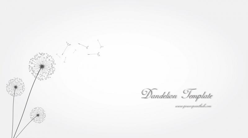 ฟรีเทมเพลต ดอกแดนดิไลออน| Free Powerpoint Template – Dandelion Template