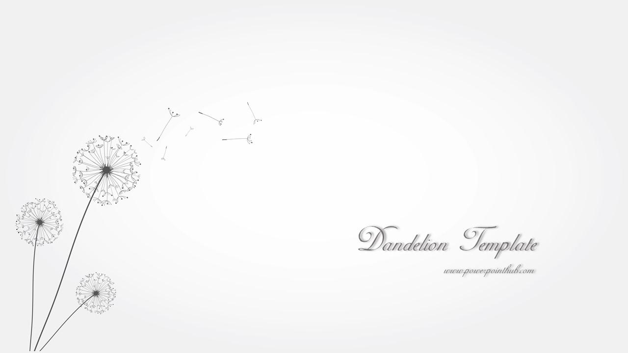 ฟร เทมเพลต ดอกแดนด ไลออน free powerpoint template dandelion