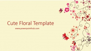 Free Powerpoint Template - Cute Floral Template