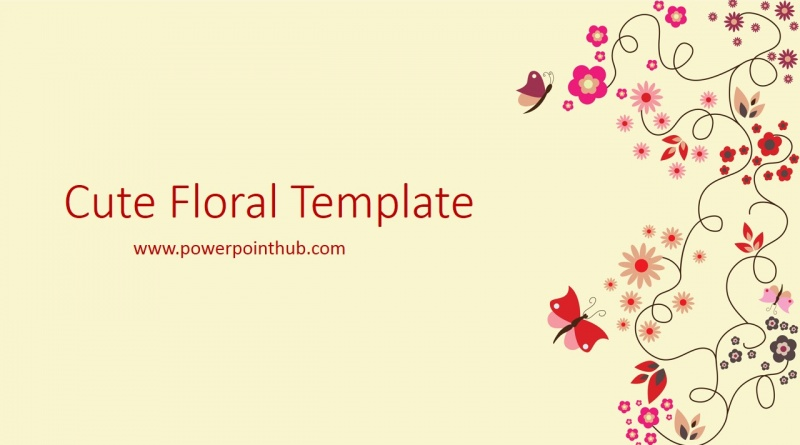 Free Powerpoint Template – Cute Floral Template