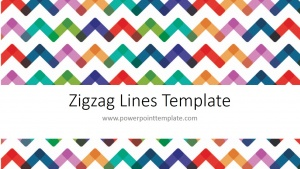 Free Powerpoint Template - Zigzag Line