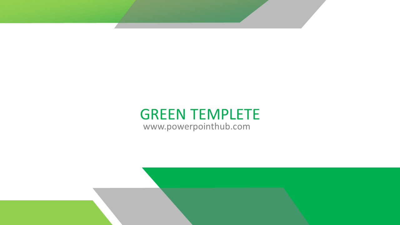 free powerpoint template green template powerpoint hub