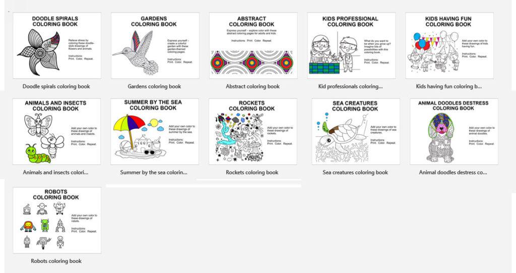สมุดภาพระบายสีใน PowerPoint Template