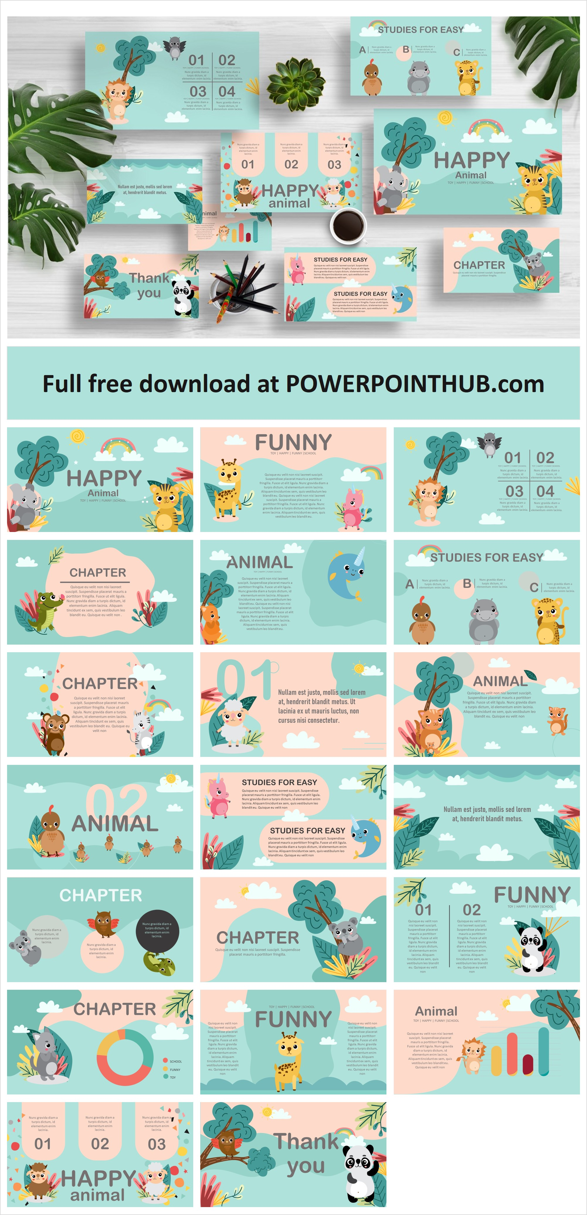 Cute Animals Presentation Template