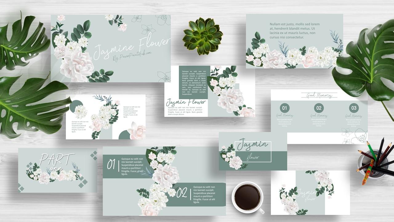Jasmine Flower Powerpoint Template Powerpoint Hub