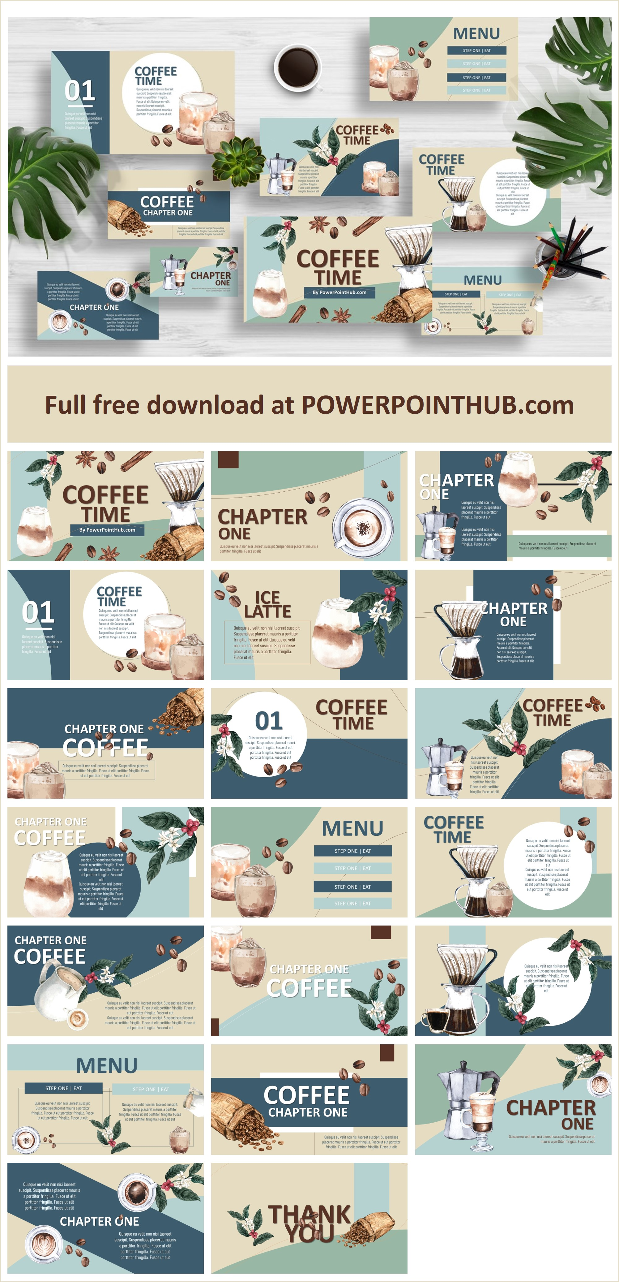 Coffee Free download PowerPoint Template
